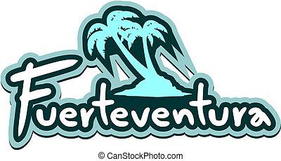 Fuerteventura sticker - Creative design of fuerteventura...