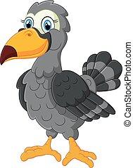 fugl, cartoon, cute