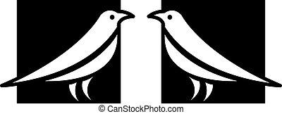 fugl, iconerne