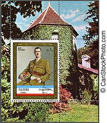FUJAIRAH - 1972: shows Charles de Gaulle (1890-1970) -...