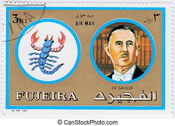 FUJEIRA - CIRCA 1971 : stamp printed in Fujeira, Zodiac...