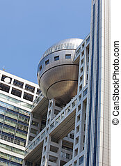Fuji Building - Detail of the Fuji building in Odaiba ...