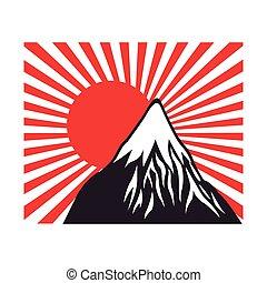 fuji flag sun japanese design