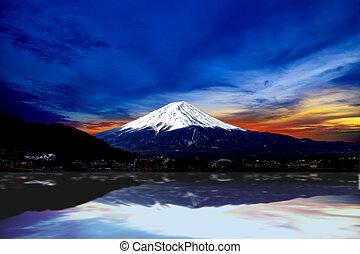 fuji, montagne, japon