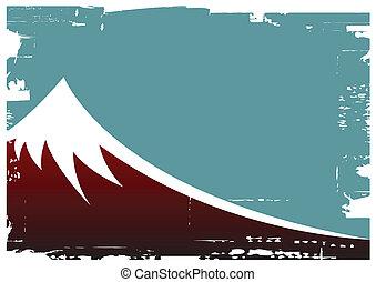 fuji mountain - vector illustration of fuji mountain