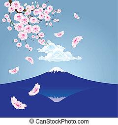 Fuji mountain vector - The abstract of Fuji mountain and...