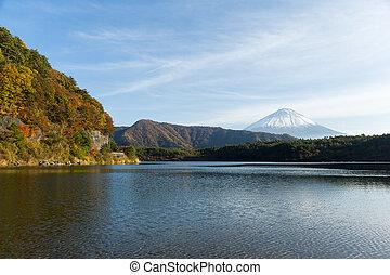 Fujisan and Lake saiko in Japan