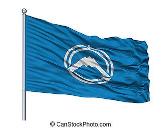 Fujiyoshida City Flag On Flagpole, Japan, Yamanashi ...