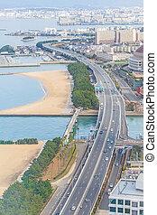 Fukuoka cityscape in Japan