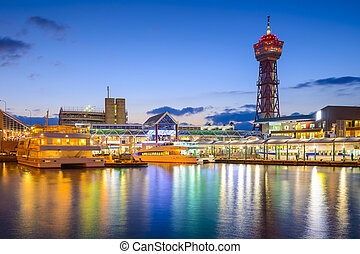 Fukuoka, Japan Waterfront Skyline - Fukuoka, Japan...