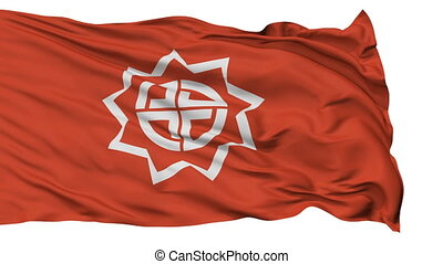 Fukushima Capital City Flag, Fukushima Prefecture of Japan,...