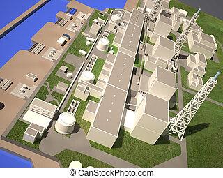 fukushima, pianta nucleare, disposizione, tridimensionale