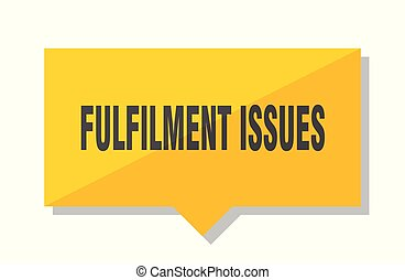 fulfilment issues price tag - fulfilment issues yellow...
