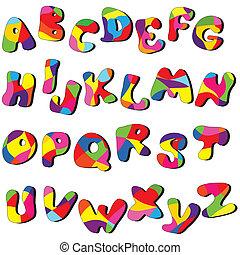 full alphabet - full cartoon alphabet . Vector clip art from...