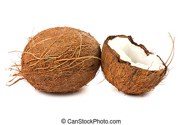 Full and half of coconut