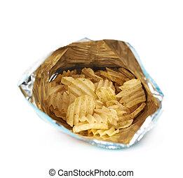 Full bag of potato chips