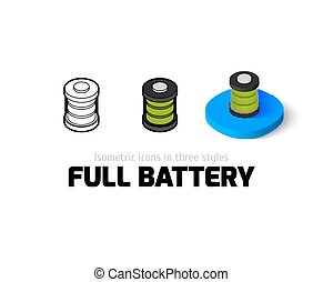 Full battery icon in different style