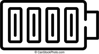 Full battery icon, outline style