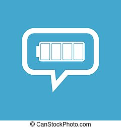Full battery message icon