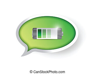 full battery message illustration