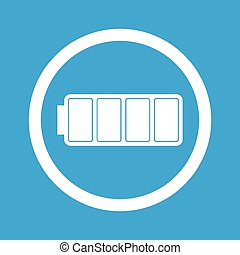 Full battery sign icon