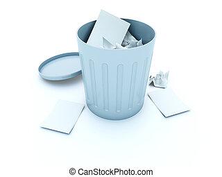 Full bin icon isolated on white