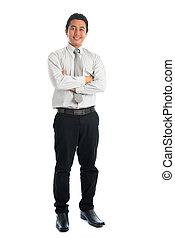 Full body Asian man