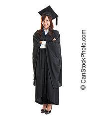 Full body Asian student