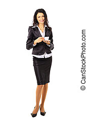 Full body business woman