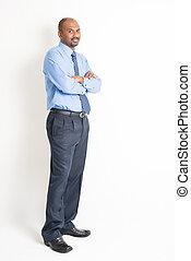 Full body confident mature Indian man executive - Portrait...