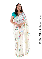 Full body Indian woman - Full body traditional Indian woman...