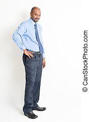 Full body mature Indian man - Portrait of full body mature...
