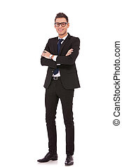 full body picture of a business man