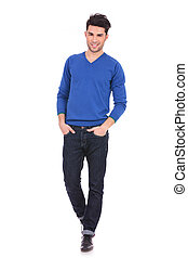 relaxed casual man with hands in pockets