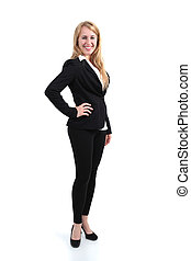 Full body portrait of a businesswoman