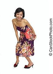 Full Body Portrait of Beautiful Asian Woman
