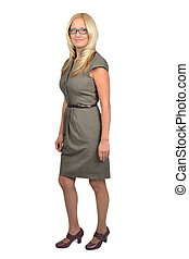 Full body portrait of business woman