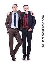 two friendly business men