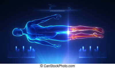 Full body scan blue projection - Full body scan blue...