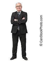 Full body shot of a well dressed businessman - Full body...