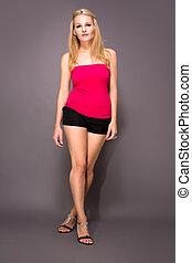 Full body shot of female model
