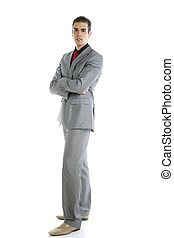 Full body young formal businessman portrait