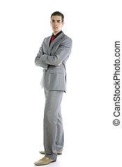Full body young formal businessman portrait