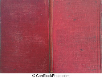 Full Book cover - Red cloth bound book cover