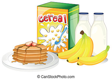 Full breakfast meal - Illustration of a full breakfast meal ...