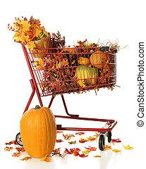 Full Cart of Fall Color