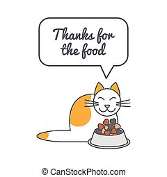 Full cat with speech bubble and saying