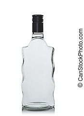 bottle of vodka on white background