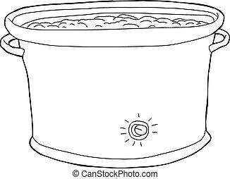 Full Crock Pot Outline