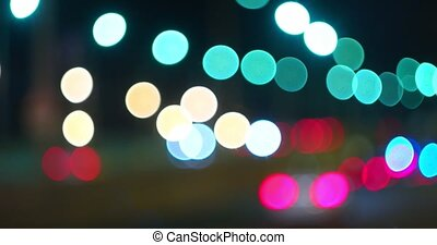 Full defocus lights of traffic - Fully defocused lights of...